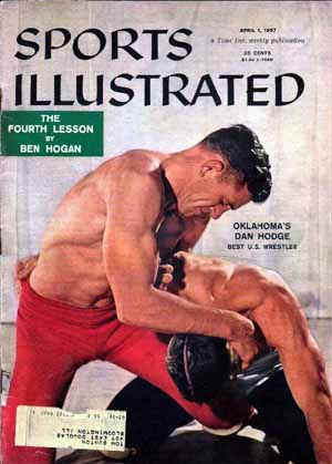 1957 Sports Illustrated cover with Dan Hodge of OK
